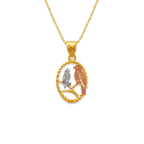 568-127 Two Doves on a Branch Pendant