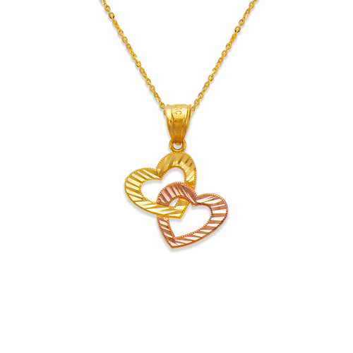 568-132 Two Hearts Linked Pendant