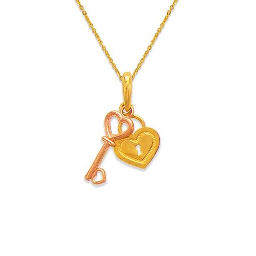 568-134 Heart and Key Pendant