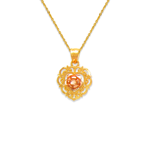 568-138 Rose Heart Pendant