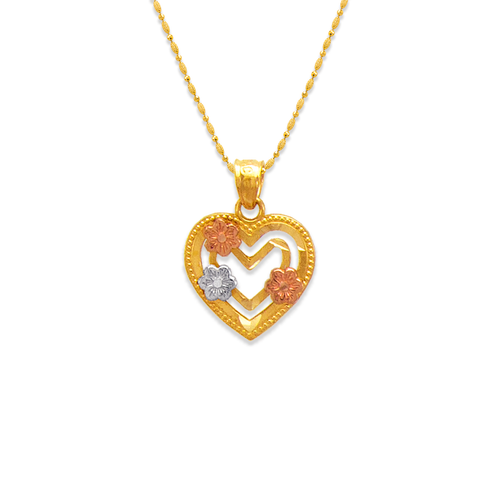 568-139 Hearts and Flowers Pendant