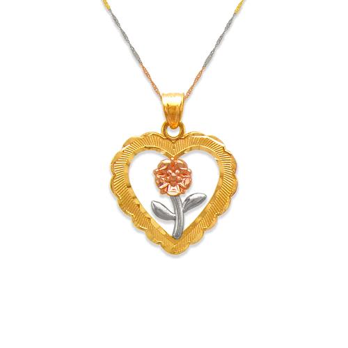 568-142 Rose Heart Pendant
