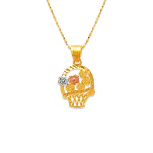 568-144 Flowers in Basket Pendant