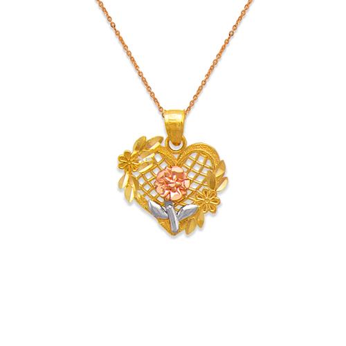 568-162 Rose Heart Pendant