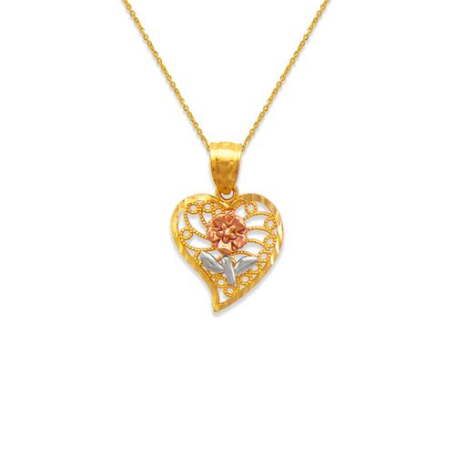 568-164 Rose Heart Pendant
