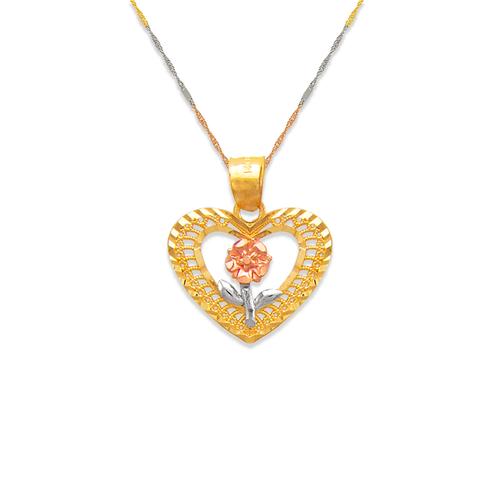 568-167 Rose Heart Pendant