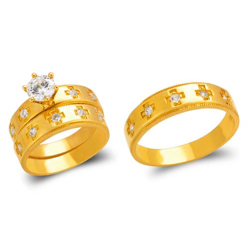 473-837S Wedding Trio Ring Set