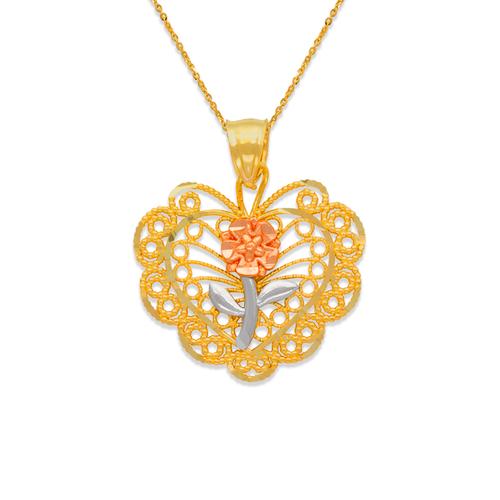 568-173 Rose Heart Pendant