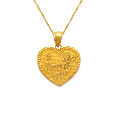 568-176 I Love You Heart Pendant