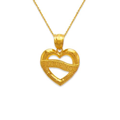 568-180 I Love You Banner Heart Pendant