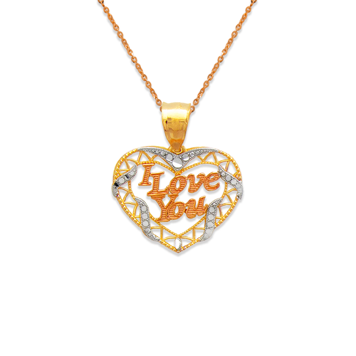 568-182 I Love You Heart Pendant