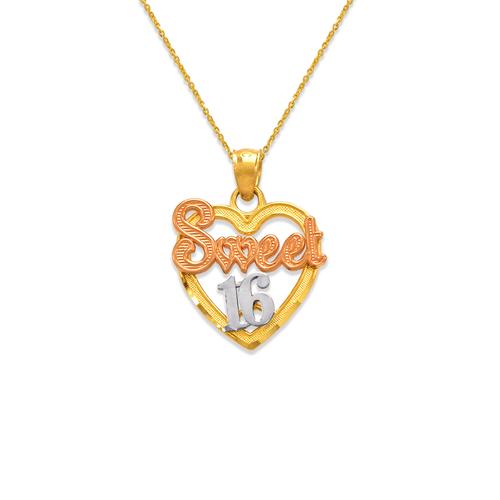 568-185 Sweet 16 Heart Pendant