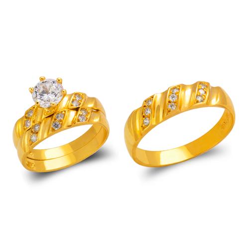 473-840S Wedding Trio Ring Set