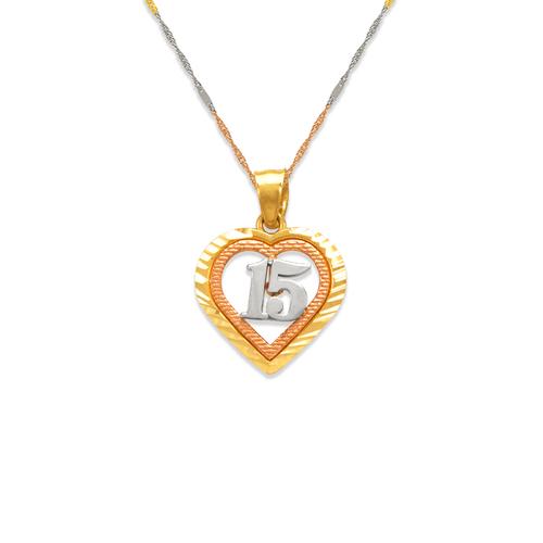 568-186 15 Anos Heart Pendant