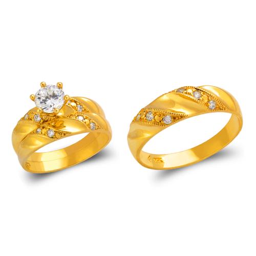473-843S Wedding Trio Ring Set