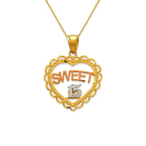 568-204 Sweet 15 Heart Pendant