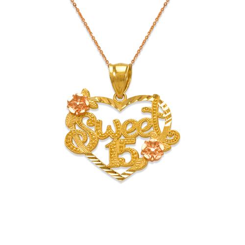 568-206 Sweet 15 Heart Pendant