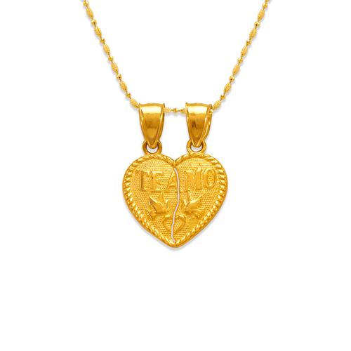 568-257 Two-Piece Te Amo Heart Pendant