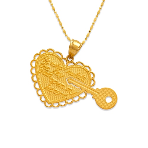 568-261 Two-Piece Heart and Key Pendant