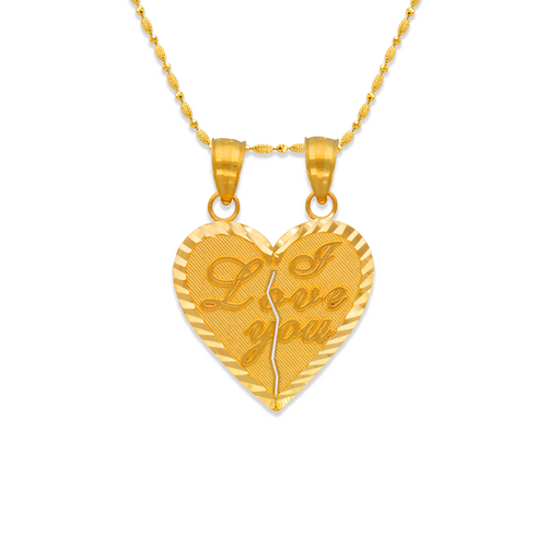 568-263 Two-Piece I Love You Heart Pendant