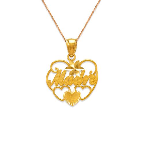 568-278 Madre Heart Pendant