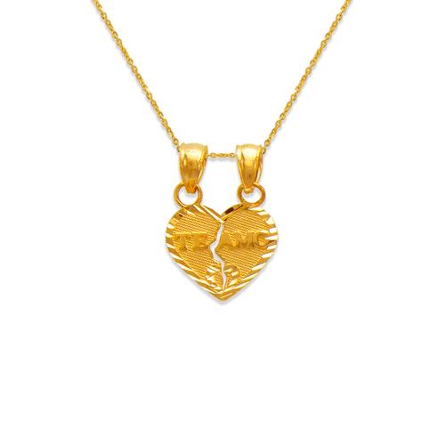 568-287 11mm Two-Piece Te Amo Heart Pendant