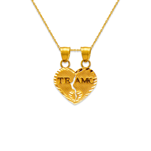 568-288 15mm Two-Piece Te Amo Heart Pendant