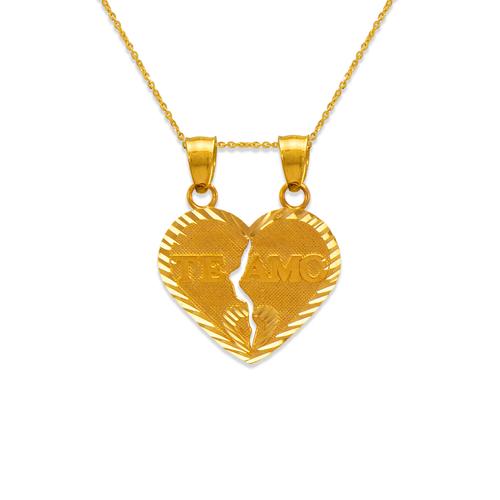568-290 21mm Two-Piece Te Amo Heart Pendant