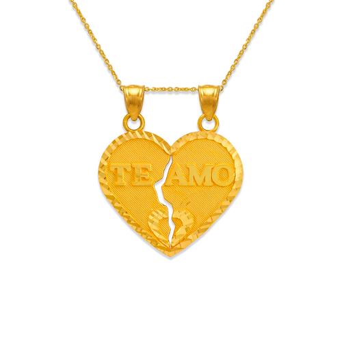 568-291 25mm Two-Piece Te Amo Heart Pendant