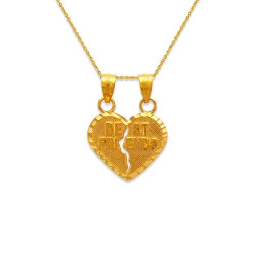 568-293 Two-Piece Best Friends Heart Pendant