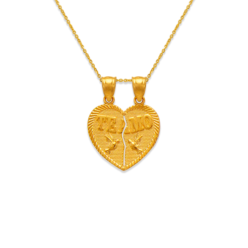 568-294 Two-Piece Te Amo Doves Heart Pendant