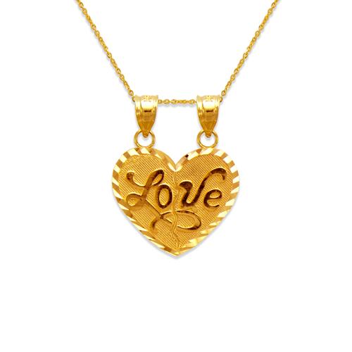 568-296 Two-Piece Love Heart Pendant