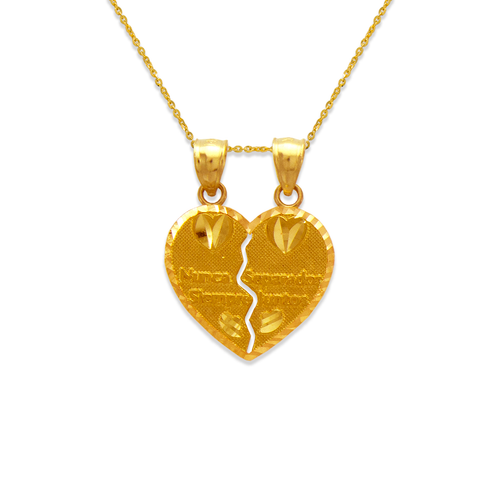 568-298 Two-Piece Nunca Separado Heart Pendant