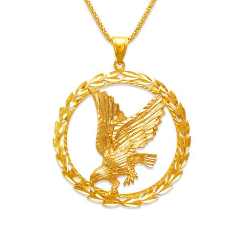 568-630 Eagle in Sphere Pendant