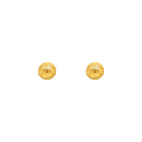 343-011 3mm Diamond Cut Stud Earrings