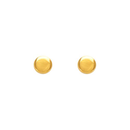 343-021 4mm Disk Stud Earrings