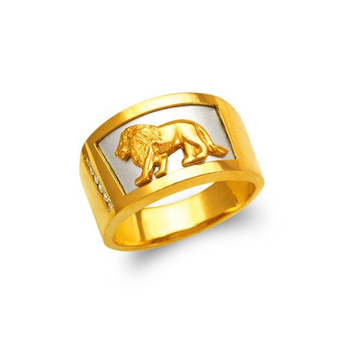 473-011 Men's Fancy Lion CZ Ring