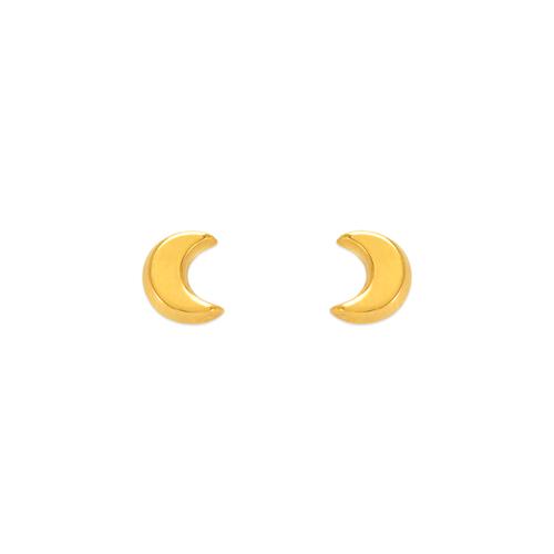343-031 High Polished Moon Stud Earrings