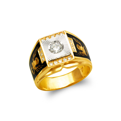 473-019 Men's Fancy Enamel CZ Ring