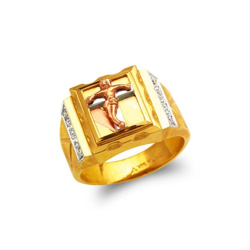 473-024 Men's Fancy Jesus Cross CZ Ring