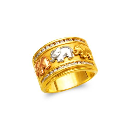 473-080 Men's Fancy Elephant CZ Ring