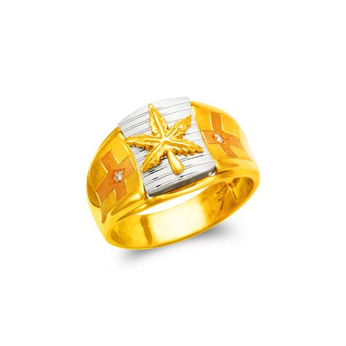 473-081 Men's Fancy Marjuana CZ Ring
