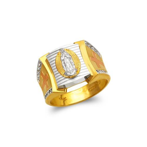 473-201 Men's Fancy Guadalupe CZ Ring