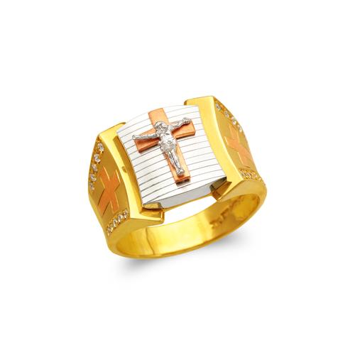 473-202 Men's Fancy Jesus Cross CZ Ring