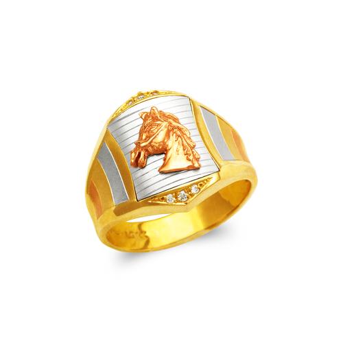 473-207 Men's Fancy Horse CZ Ring