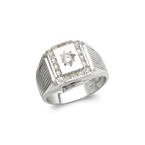 473-210W Men's Fancy White CZ Ring