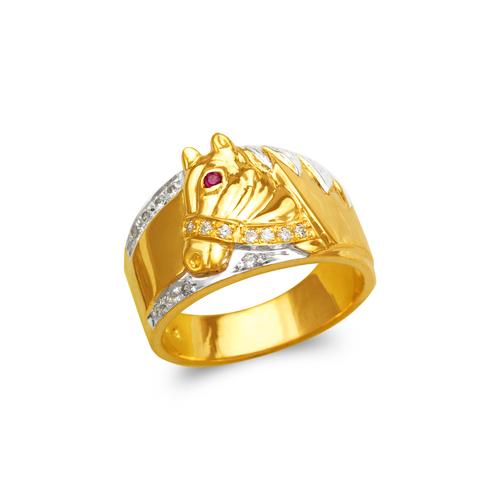473-223 Men's Fancy Horse CZ Ring