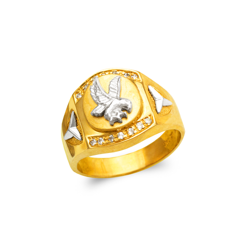 473-227 Men's Fancy Eagle CZ Ring