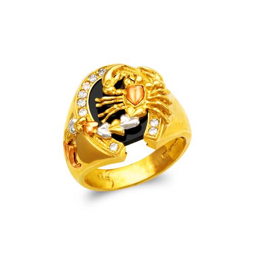 473-230 Men's Fancy Scorpion CZ Ring
