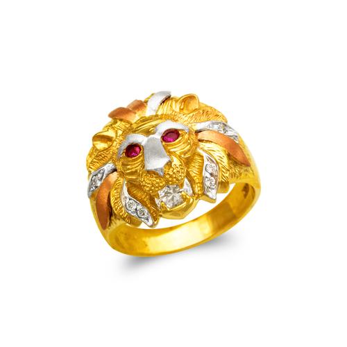 473-231 Men's Fancy Lion Head CZ Ring